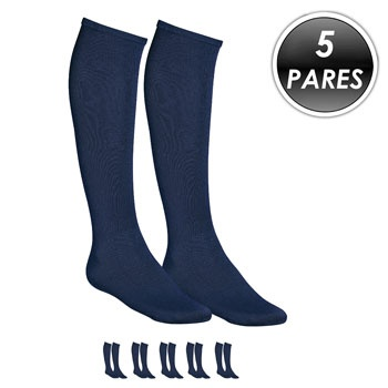 Kit 5 Pares Meião Esportivo Top Fill TF19 Azul
