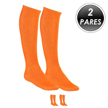 Kit 2 Pares Meião Esportivo Top Fill TF19 Laranja