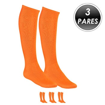 Kit 3 Pares Meião Esportivo Top Fill TF19 Laranja