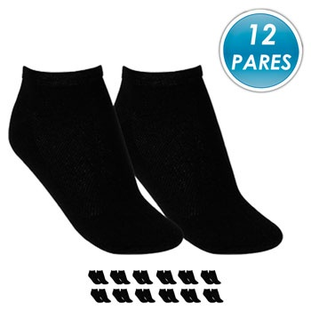 Kit 12 Pares Meia Soquete Top Fill TF19-SQT-M Preto