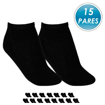Kit 15 Pares Meia Soquete Top Fill TF19-SQT-M Preto