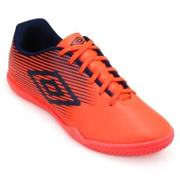 Chuteira Futsal Umbro F5 Light UB19 Coral-Marinho