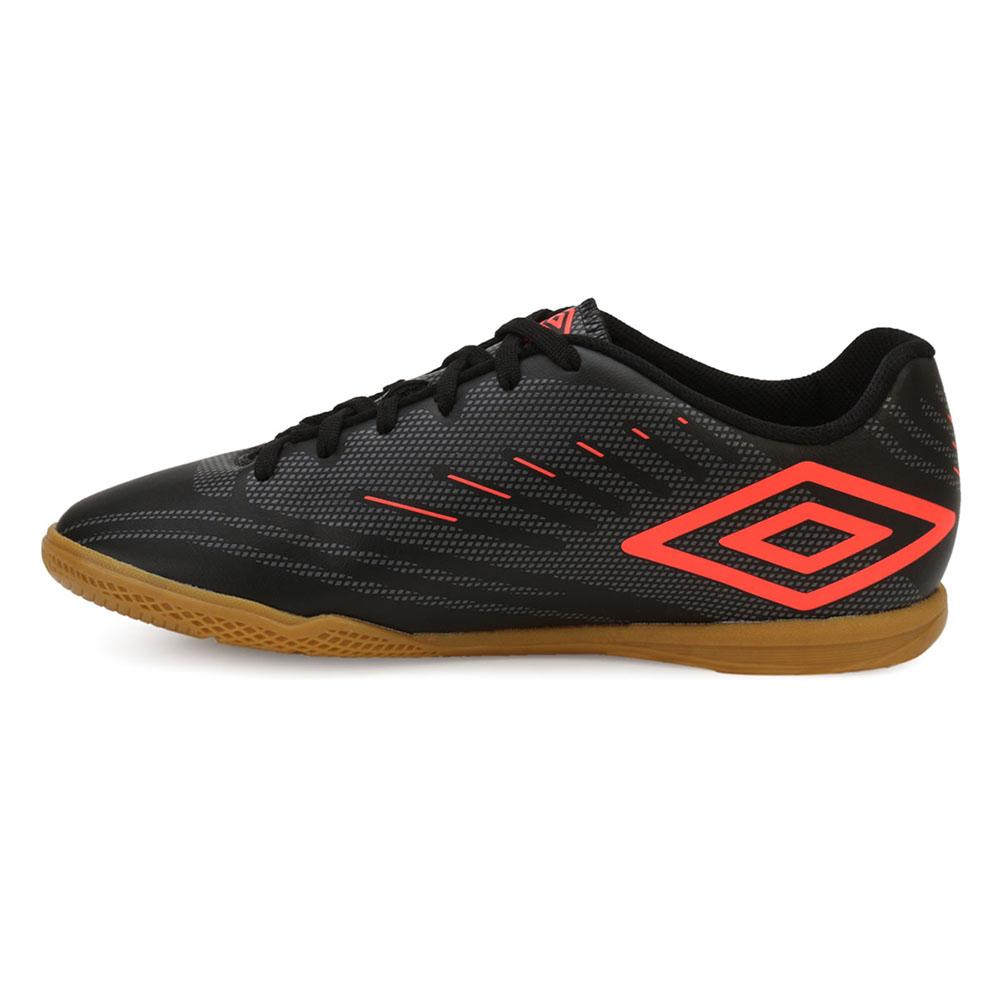 13ab61c7da724 ... Chuteira Futsal Umbro Speed IV UB18 Preto-Grafite-Coral TAM 45 ao 48 ...