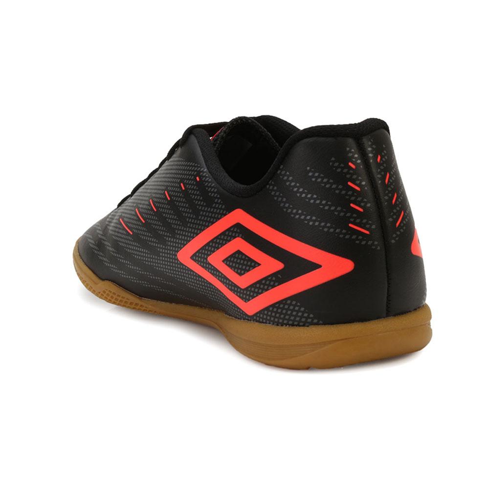 685b0af1dec78 ... Chuteira Futsal Umbro Speed IV UB18 Preto-Grafite-Coral TAM 45 ao 48