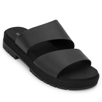 Tamanco Espadrille Via Bella VB19-6301 Preto