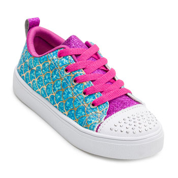 Tênis Ykes Glitter Infantil YK20-8600 Azul-Pink