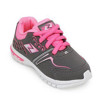 e30ea239957 Tênis Zeus Kids Baby KX Branco-Grafite-Pink ...