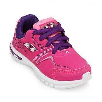 Tênis Zeus Kids Baby KX Branco-Pink-Uva