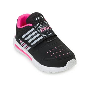 Tênis Zeus Kids Infantil ZK19-3X-I Branco-Preto-Pink
