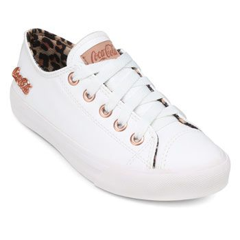 Tênis Coca-Cola Basket Skin CL19-CC1614 Branco-Caramelo