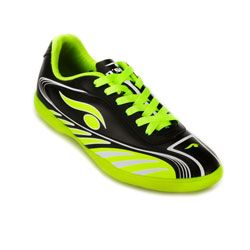 Chuteira Futsal Dsix Infantil DS18-6203 Preto-Verde Limão