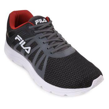 Tênis Fila Finder FL18 Grafite-Preto-Vermelho TAM 44 ao 48