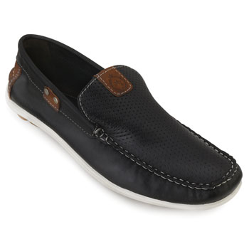 Mocassim Drive Mr. Light Barcelona MR18-81 Preto-Preto