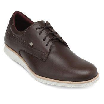 Sapato Mr. Light Couro MR18-601 Marrom-Branco