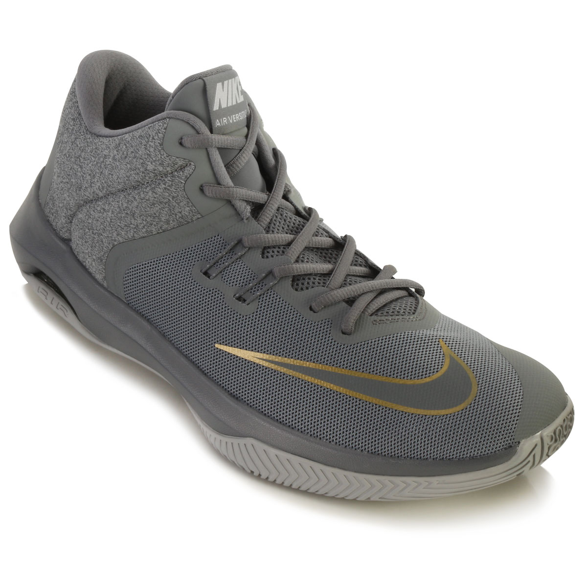 ea22752f6b243 Tênis Nike Air Versitile II NK18 Cinza-Ouro TAM 44 ao 48