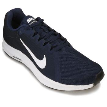 Tênis Nike Downshifter 8 NK18 Marinho-Branco
