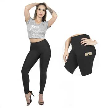 Calça Legging Plus Size Catwalk 2107CO Preto
