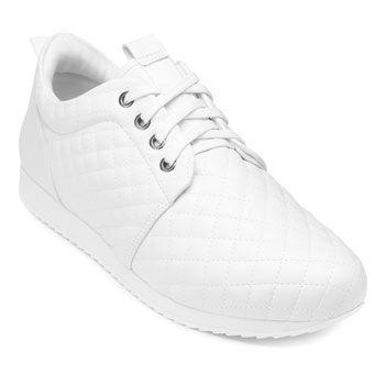 Tênis Jogging Sense Flex 123113 Pele Branco TAM 40 ao 44