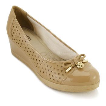 Sapato Sense Anabela AF18-223506 Light Tan TAM 40 ao 44