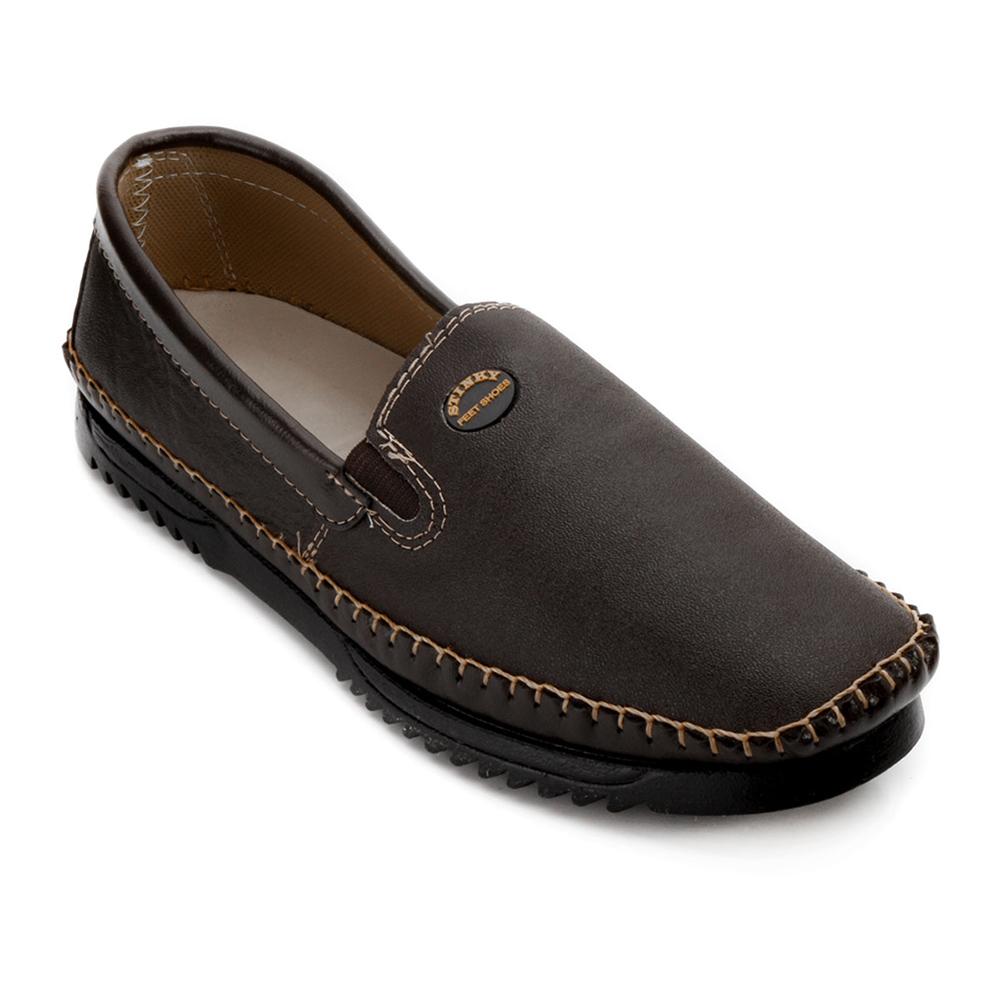 d5d1f3bae Sapato Mocassim Stinky Masculino 800 Couro Café   Alex Shoes