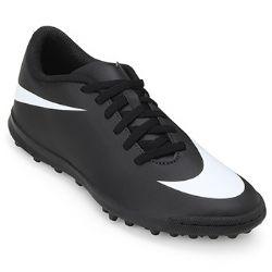 Chuteira Society Nike Bravata II TF NK19 Preto-Branco