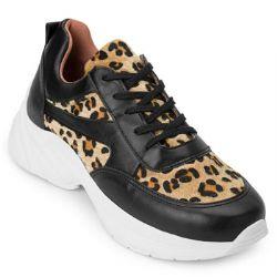 Tênis Dad Sneaker Sense Way GB20-1670 Preto-Bege TAM 40 ao 44